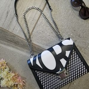 NWT Whitney Graphic-Logo Smooth Leather Bag